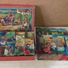 Puzzles: PRECIOSO PUZLE DE CUBOS ROMPECABEZAS INFANTIL AÑOS 40 - COMPLETO - PUZZLE. Lote 198129286