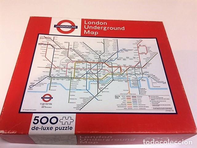 Puzzles: PUZZLE PLANO METRO LONDRES. TUBE. 500 PIEZAS. - Foto 2 - 198341153