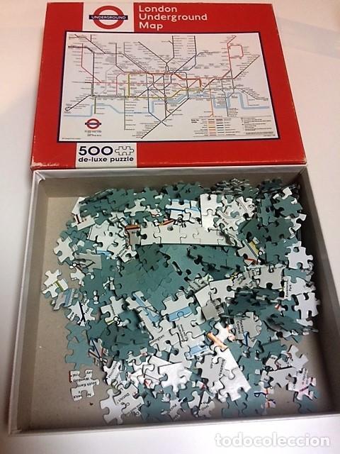 Puzzles: PUZZLE PLANO METRO LONDRES. TUBE. 500 PIEZAS. - Foto 3 - 198341153