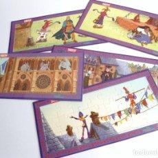 Puzzles: EL JOROBADO DE NOTRE DAME - 5 PUZZLE DISNEY - NESTLE AÑOS 90 - NUEVO. Lote 198457237