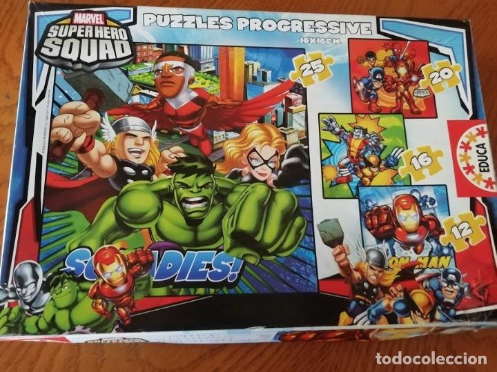 Puzzles: Puzzle Progresivo Super Hero Squad Contiene 4 puzzles con diferente número de piezas (entre 12 y 25) - Foto 2 - 199223373