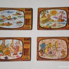 Puzzles: LOTE DE 4 MINI PUZZLES ODÍN *15 PIEZAS* ( MADE IN SPAIN ) MOTIVO SERIES TV. DE LA ÉPOCA . AÑOS 80 . . Lote 199741461