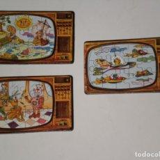 Puzzles: LOTE DE 3 MINI PUZZLES ODÍN *15 PIEZAS* ( MADE IN SPAIN ) MOTIVO SERIES TV. DE LA ÉPOCA . AÑOS 80 . . Lote 199742305