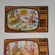 Puzzles: LOTE DE 2 MINI PUZZLES ODÍN *15 PIEZAS* ( MADE IN SPAIN ) MOTIVO SERIES TV. DE LA ÉPOCA . AÑOS 80 . . Lote 199742437