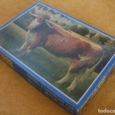 Puzzles: PUZLE PUZZLE DE LUXE BONNIE A LONGHORN COW VACA 1000 PIEZAS – COMPLETO – UN SOLO USO. Lote 200811940