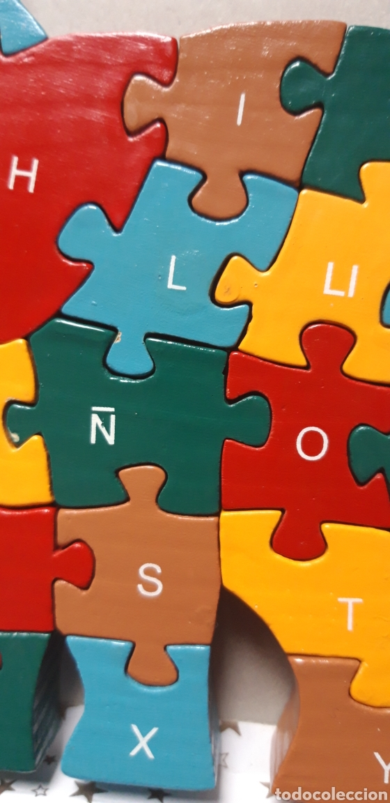 Puzzles: PUZZLE DE MADERA ELEFANTE DOS CARAS - Foto 2 - 201897192