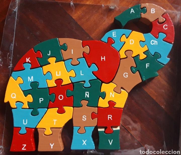 Puzzles: PUZZLE DE MADERA ELEFANTE DOS CARAS - Foto 4 - 201897192