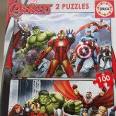 Puzzles: MARVEL AVENGERS - 2 PUZZLES - MUY BUEN ESTADO. Lote 202037620