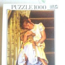 Puzzles: PUZZLE 1000 FICHAS , USADO , COMPLETO Y ACABADO -DORMIDA EN LA ESCALERA- DE EDUCA . Lote 202082041