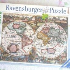 Puzzles: PUZZLE 1500 FICHAS , USADO , COMPLETO Y ACABADO - MAPA MUNDI - DE RAVENSBURGER . Lote 202082443