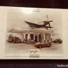 Puzzles: PUZZLE FERNAND NATHAN 49X66,5CMS AVION COCHE 1000 PIEZAS GAS STATION 36X26CMS. Lote 203075787