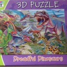 Puzzli: PUZZLE 3 D DREADFUL DINOSARUS 100 PIEZAS. Lote 203725541