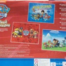 Puzzles: 3 WOOD PUZZLES - PAW PATROL CON CAJA DE MADERA PARA GUARDAR- MÁS DE 3 AÑOS. Lote 203726030