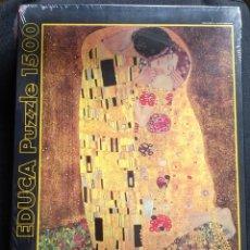 Puzzles: 2008 RARO EL BESO G. KLIMT R.13794 PUZZLE PUZLE EDUCA PRECINTADO 1500 PIEZAS 60 X 85 CM. Lote 204672201