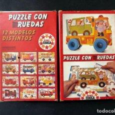 Puzzles: PUZZLE CON RUEDAS / CAMION / JUEGOS EDUCA AÑO 1983 / SALLENT HNOS. SABADELL / SIN USAR. Lote 205404016