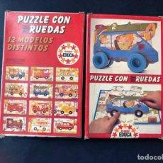Puzzles: PUZZLE CON RUEDAS / GRUA / JUEGOS EDUCA AÑO 1983 / SALLENT HNOS. SABADELL / SIN USAR. Lote 205404520