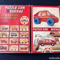 Puzzles: PUZZLE CON RUEDAS / COCHE / JUEGOS EDUCA AÑO 1983 / SALLENT HNOS. SABADELL / SIN USAR. Lote 205404732