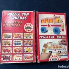 Puzzles: PUZZLE CON RUEDAS / AMBULANCIA / JUEGOS EDUCA AÑO 1983 / SALLENT HNOS. SABADELL / SIN USAR. Lote 205405016