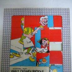 Puzzles: PUZLE ANTIGUO DE WALT DISNEY PINOCCHIO. AÑOS 60. --- 8. Lote 205439510