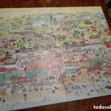 Puzzles: ANTIGUO PUZZLE GIGANTE - AÑOS 80 SPAIN TAMAÑO ARMADO 62 X 78 CM. DE JUEGOS DINOVA - EL RIO. Lote 205777750