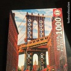 Puzzles: PUZZLE PUENTE MANHATTAN NEW YORK - EDUCA - 1000 PIEZAS - NUEVO EN BLISTER SIN ABRIR - AÑO 2017. Lote 205837555
