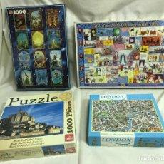 Puzzles: GRUPO DE CUATRO PUZZLES: JUMBO 1000P, GOLIATH 1000P, MANDOLIN 1000P Y LONDON 500P. A ESTRENAR. Lote 205842408