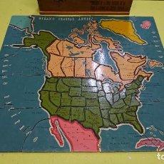 Puzzles: ANTIGUO PUZZLE EN MADERA DE AMÉRICA DEL NORTE. Lote 207005638