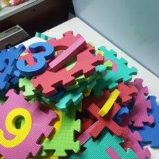 Puzzles: PUZZLE DE GOMA INFANTIL PARA SUELO DE NUMEROS Y SIMBOLOS DE 35 PIEZAS DE 17X17 CM CADA UNA. Lote 207134345