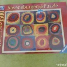 Puzzles: PUZZLE RAVENSBURGER 1500 KANDISNSKY ESTUDIO DE COLORES. NUEVO 80X60 CM. Lote 207250682