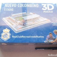 Puzzles: MAQUETA ESTADIO STADIUM NUEVO COLOMBINO HUELVA 3D PUZZLE PRECINTADO Y A ESTRENAR. OFICIAL. Lote 208470022