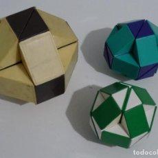 Puzzles: JUGUETE 3 SERPIENTES RUBIK - 2 DE ELLAS DE LOS AÑOS 80S Y 1 DE LOS AÑOS 90S/2000S CUBO RUBIK PUZZLE. Lote 209614368