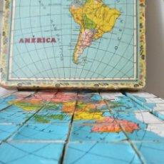 Puzzles: ANTIGUO PUZZLE CARTÓN MAPAS DEL MUNDO. Lote 209777020
