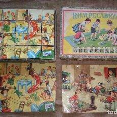 Puzzles: ROMPECABEZAS ABECEDARIO, CON CUBOS DE CARTÓN. AÑOS 20-30.. Lote 210723114