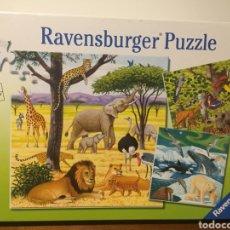Puzzles: PUZZLE LOS ANIMALES DE LA SELVA. Lote 210964985