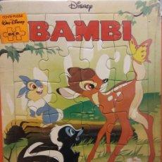 Puzzles: BAMBI. CUENTO. PUZZLE DISNEY. MEDIDAS 32*23 CM. Lote 211261994