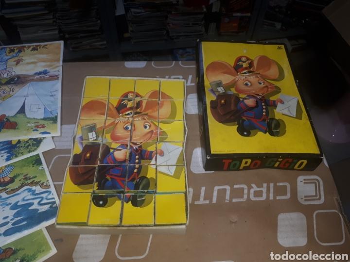Puzzles: Antiguo puzzle de cubos TOPO GIGIO MARIA PEREGO 1973 EDIGRAF COMPLETO - Foto 3 - 211269136