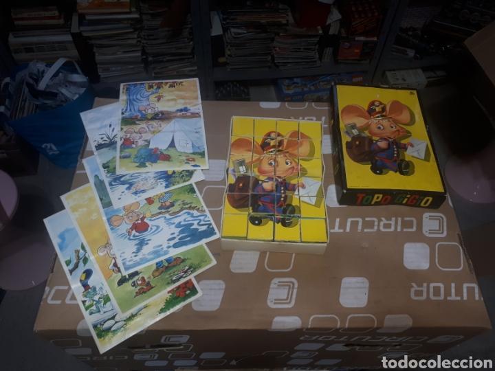 ANTIGUO PUZZLE DE CUBOS TOPO GIGIO MARIA PEREGO 1973 EDIGRAF COMPLETO (Juguetes - Juegos - Puzles)