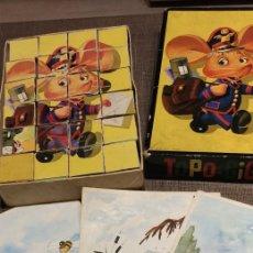 Puzzles: PUZZLE TOPO GIGIO CUBOS AÑOS 60. Lote 212034402