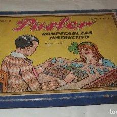 Puzzles: ROMPECABEZAS PUSLER,CAJA ORIGINAL,AÑOS 40 Ó 50. Lote 212659663