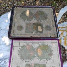 Puzzles: ANTIGUO ROMPECABEZAS MAPAMUNDI MAPPEMONDE PUZZLE DEUX HEMISPHERES 30 X 40 CM APROX. Lote 212883097