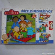 Puzzles: 4 PUZZLES PROGRESIVOS DE CAILLOU DE 6, 9, 12 Y 16 PIEZAS DE 16X16 CM - EDUCA. Lote 213584785