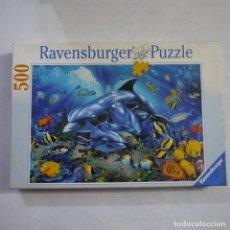 Puzzles: PUZZLE DE 500 PIEZAS MOVIMIENTO MULTICOLOR EN EL ARRECIFE DE CORAL - RAVENSBURGER. Lote 213584842