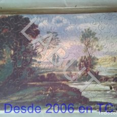 Puzzles: PUZZLE DE MADERA ANTIGUO PAISAJE CEBRA. Lote 213982311