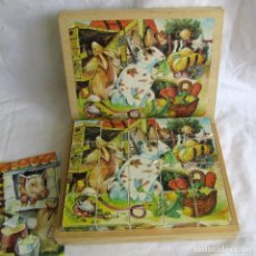 Puzzles: PUZZLE DE CUBOS DE MADERA EN CAJA DE MADERA. Lote 214026053
