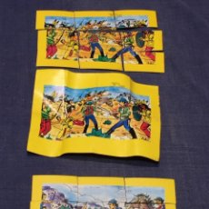 Puzzles: JUGUETES JAVER BONIFACIO GONZALEZ MEZQUITA PUZZLE PUZLE 9 PIEZAS DOS VAQUEROS INDIOS ZAMORA. Lote 215008006