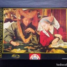 Puzzles: PUZZLE 1500 PIEZAS EDUCA – PUZLE EL CAMBISTA Y SU MUJER. MARINUS VAN REYMERSWAELE. Lote 216756150
