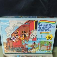 Puzzles: PUZZLE LA VUELTA AL MUNDO DE WILLY FOG NUEVO A ESTRENAR AÑOS 80. Lote 217850303