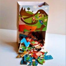 Puzzles: CAJA CON PUZZLE DE MADERA DE LETRAS Y NUMEROS GRUESOS. Lote 218793942