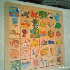 Puzzles: TABLERO TIPO PUZZLE DE ANIMALES.. Lote 219018057