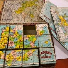 Puzzles: ENCANTADOR ROMPECABEZAS DE CUBOS, DE GEOGRAFIA. LA CAJA MIDE UNOS 20X15X5CMS. Lote 221245713